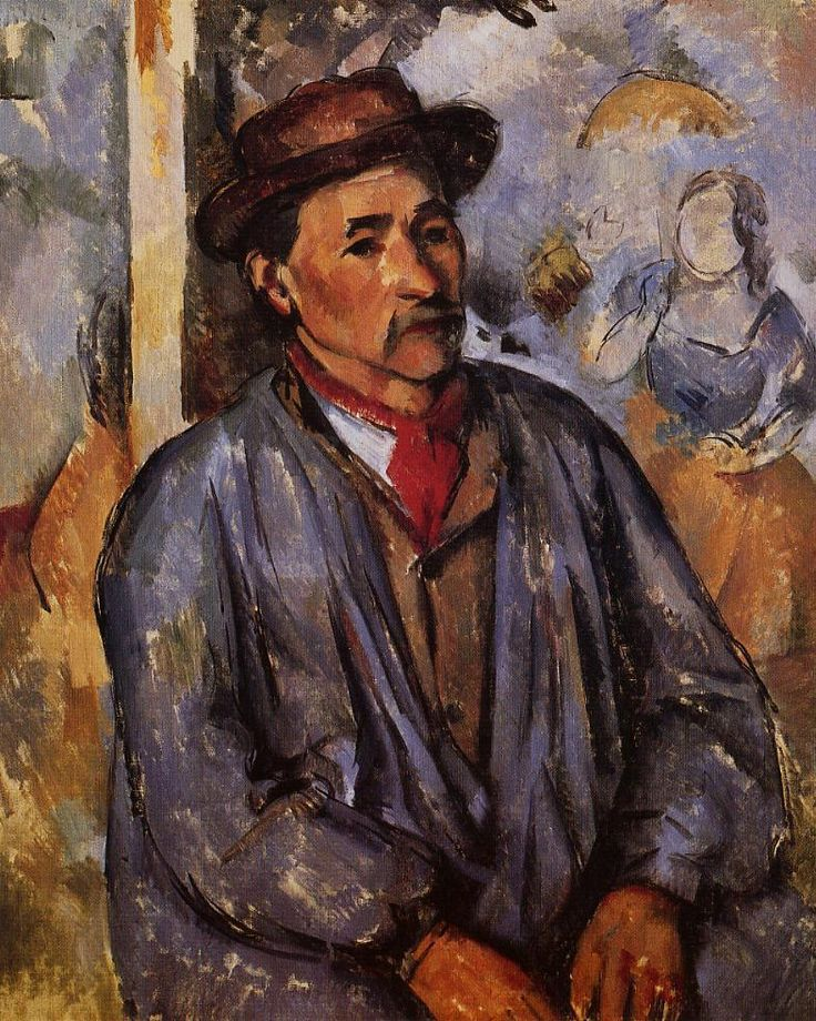 Peasant in a Blue Smock Paul Cézanne - circa 1892-1897