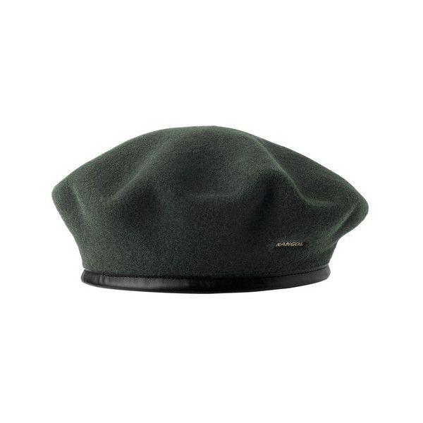 Kangol Wool Monty Beret ($55) ❤ liked on Polyvore featuring accessories, hats, kangol beret, woolen hat, beret hats, military hats and military style hats