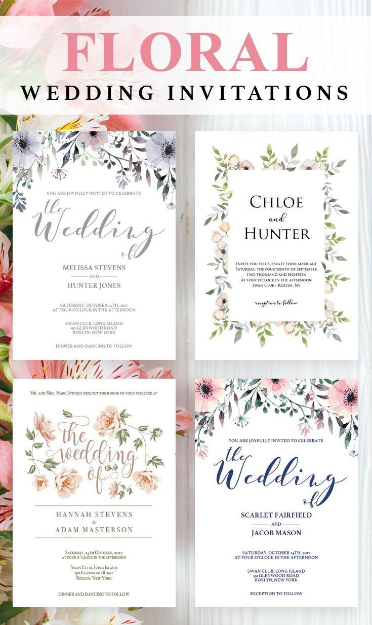 weddings invitations templates