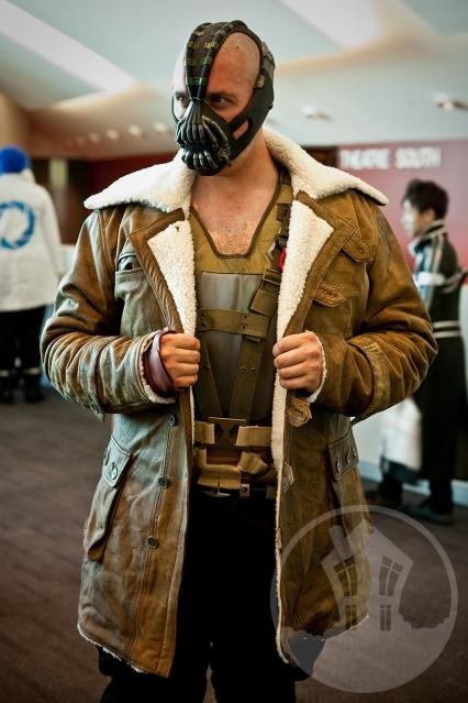 Cosplay costume - Bane.  Awesome.