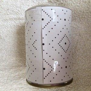 Blik lantaarn + patronen - Appeltjessap