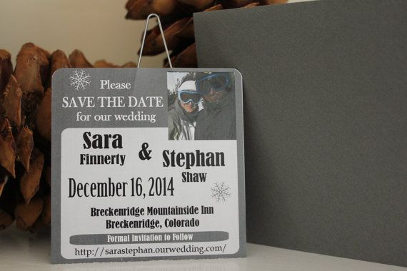 Ski Lift Ticket Save the Date