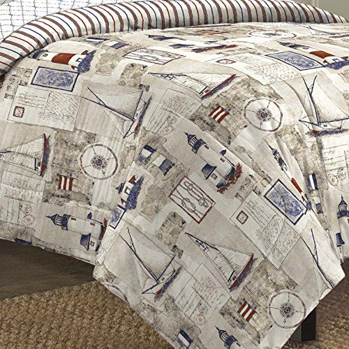 Looking for bedroom design ideas... Free Spirit Cape Cod Seaside Sailing Nautical Bedding Comforter Set, Multi-Colored, King  http://aluxurybed.com/product/free-spirit-cape-cod-seaside-sailing-nautical-bedding-comforter-set-multi-colored-king/