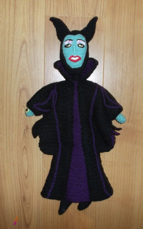 Evil Fairy MALEFICENT Doll CROCHET pattern PDF by helunique