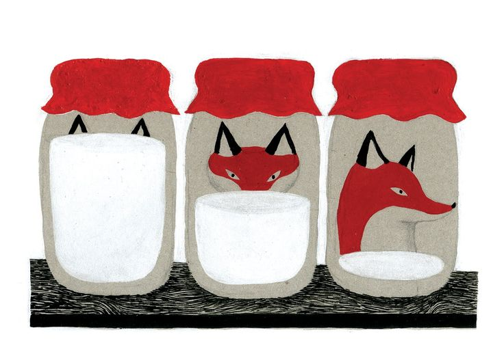Fox - Don't you just love this by ciao da israele. This artists illustrations are fabulous! What an imagination.