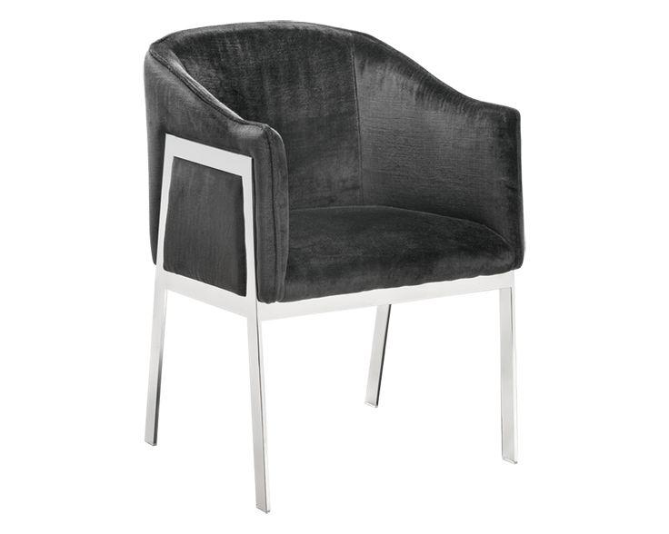Living Room - Occasional Chair - Sunpan - Rialto Chair - Fabric: Bella Shale Grey Fabric