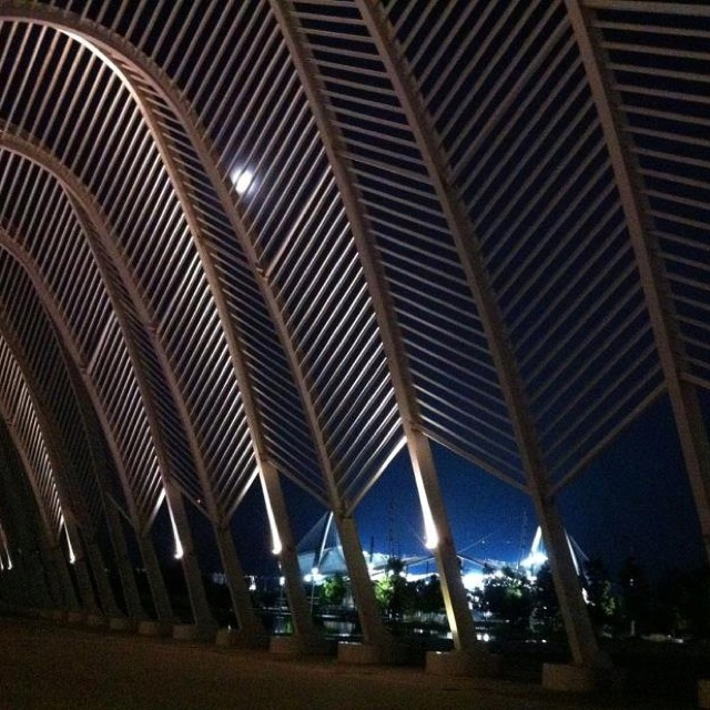 VISIT GREECE| Full moon in #Athens Olympic Studium (OAKA) #Maroussi #Greece