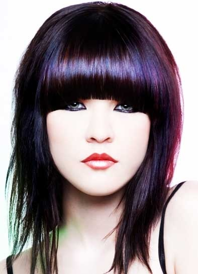 Quirky Hairstyles For Medium Length Hair : Fringes and style on