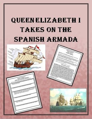 spanish armada vs queen elizabeth of england from teachlearn on 2 pages. Black Bedroom Furniture Sets. Home Design Ideas