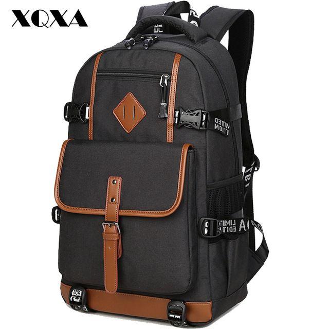 XQXA Stile Oxford Uomini Zaino Dayback Zaino Sacchetto di Scuola per Adolescenti Ragazzi Del Computer Portatile Mochila Masculina Escolar Qualità Bagpack