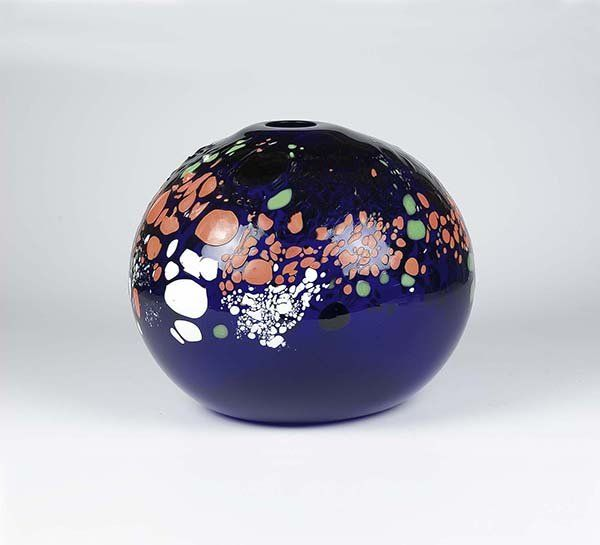 Vase decored by rubies, 27,0 cm, 1993