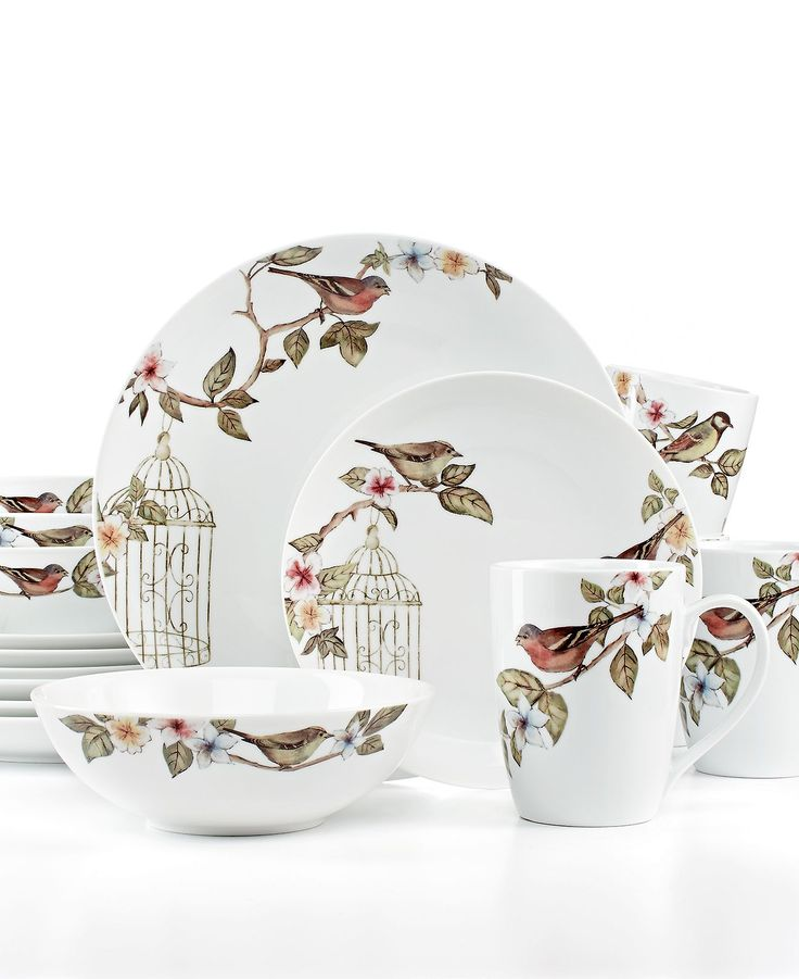 Gourmet Basics by Mikasa Dinnerware Bird Cage 16 Piece Set - Casual Dinnerware - Dining  sc 1 st  Pinterest & 103 best Dining Affair images on Pinterest | Dish sets Dishes and ...