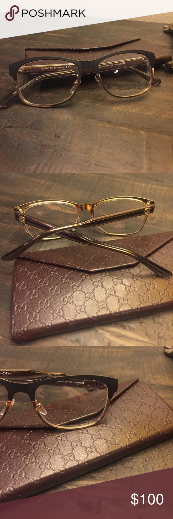Gucci Eyeglasses Brand new Gucci eyeglass frame. GG 4274 color code GXN. Made in Italy. Small scratch on front of one side. Shown in photo. Comes with gucci case Gucci Accessories Glasses