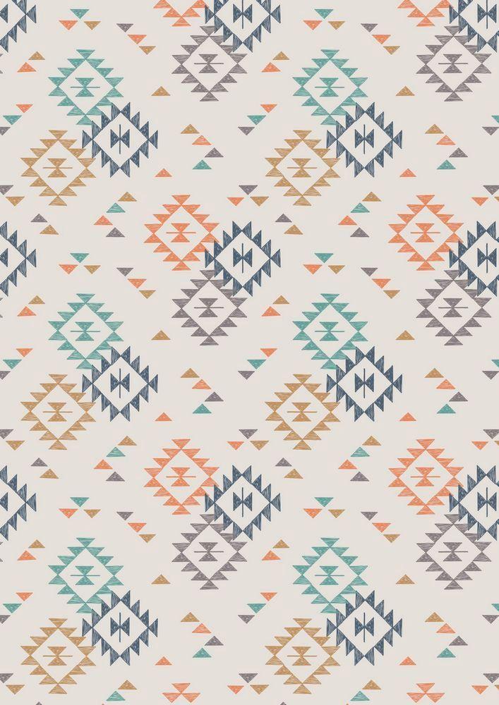 A173.1 - Triangle Print On Cream