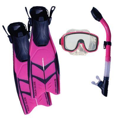 SnorkelCity's Definitely Pink Mask, Snorkel & Fin Snorkeling Set  http://snorkelcity.com/masks-snorkel-and-fins-sets/snorkel-citys-definitely-pink-mask-snorkel-a-fin-set-detail