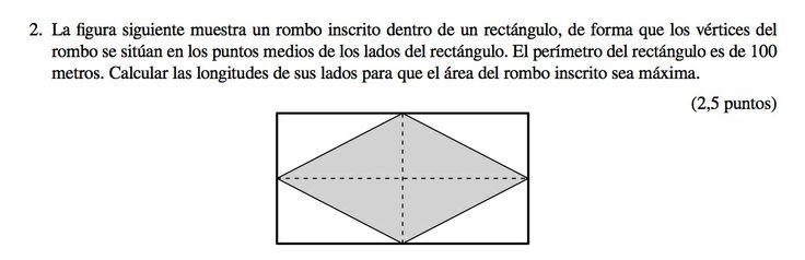 Ejercicio 2B Junio 2012-2013. Propuesto en examen pau de Canarias. Matemática. Optimización.