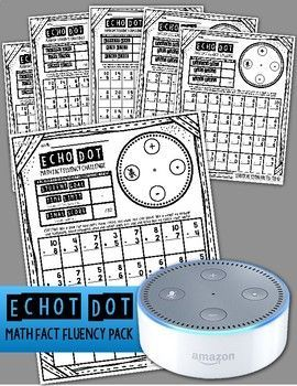 Echo Dot Math Fact Fluency Pack: Practice math facts easily with this pack!