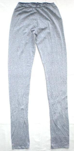 Leggings lamè argento