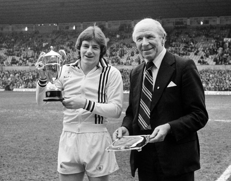 Steve Coppell with Sir Matt Busby