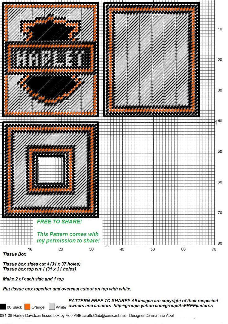 Harley Davidson Tissue Box