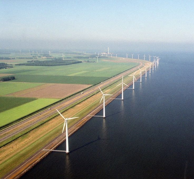 The Dutch created the artificial island Flevoland through the Zuiderzee Works…
