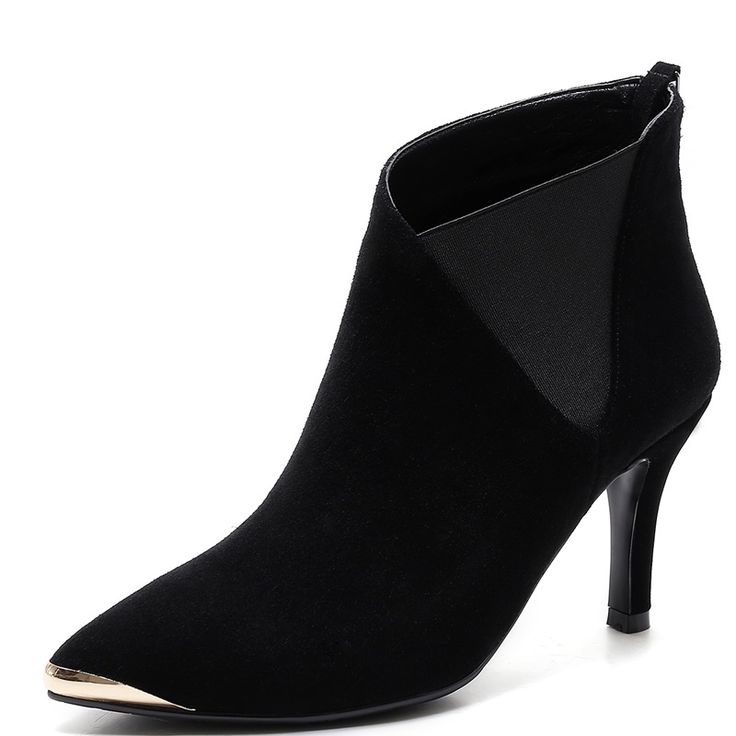 53.00$  Watch here - http://ali9ng.worldwells.pw/go.php?t=32703914375 - Mixed Colors Thin Heels 8.5 cm Beautiful Beautiful Ladies shoes woman Pointed Toe Nubuck Grain Leather woman wedding shoes 53.00$