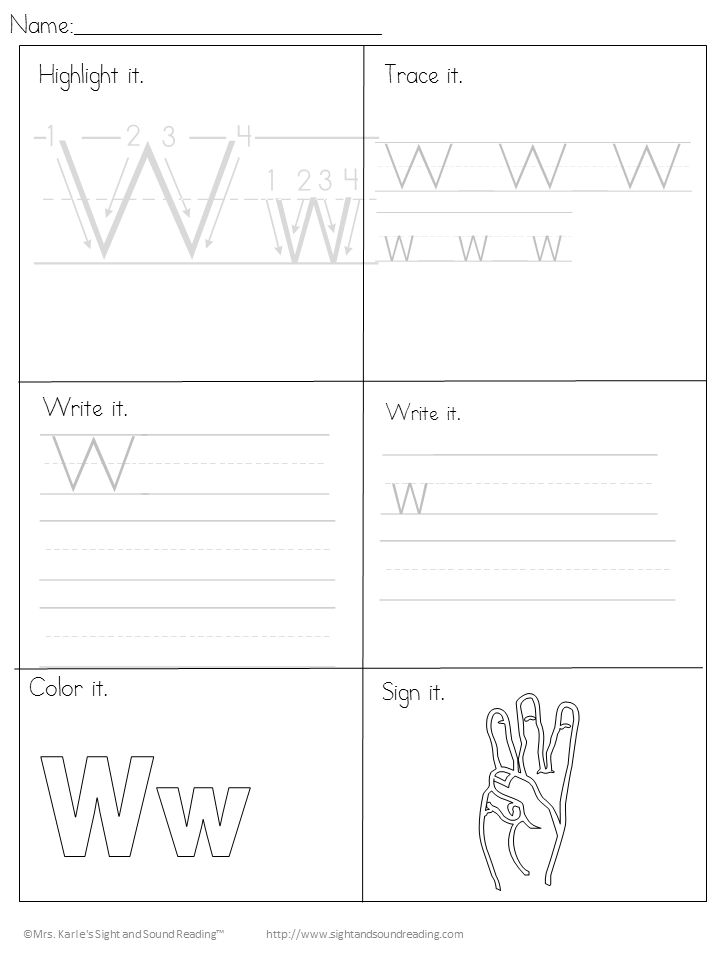 18 Free Letter W Beginning Worksheets- Easy Download ...
