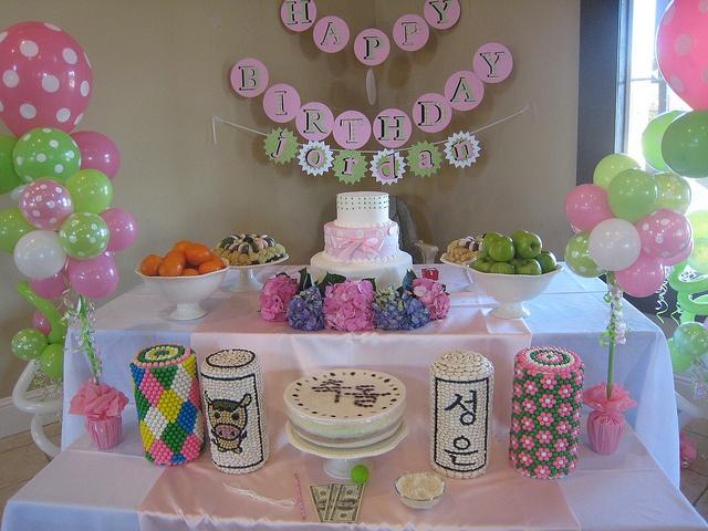 Traditional Korean-style 1st Birthday Dol or Doljanchi by Helena G., via Flickr