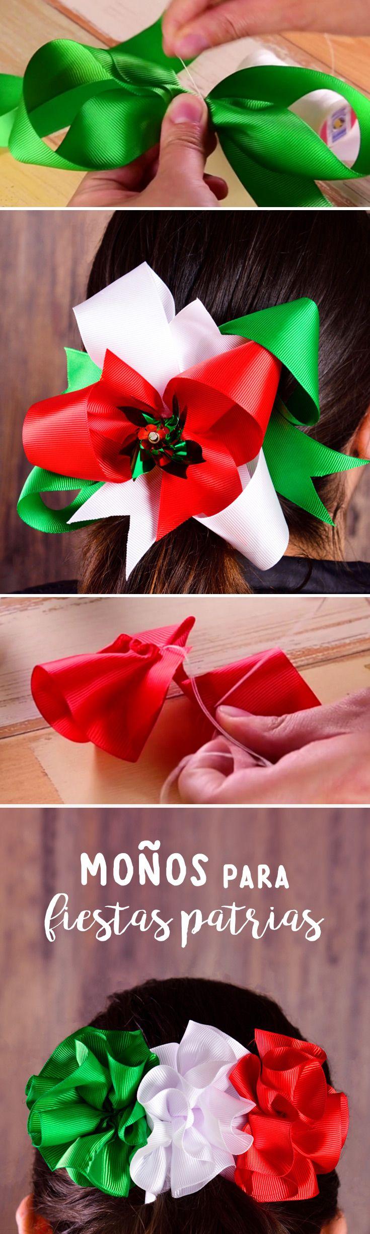 Sigue este paso a paso para elabora tu propio moño tricolor estas fiestas patrias, te sorprenderán los resultados. Corre a comprar los materiales.