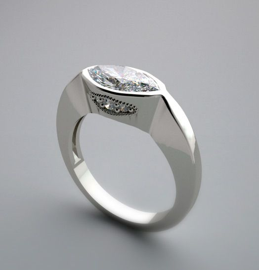 Best 25 Marquis Diamond Ring Ideas On Pinterest