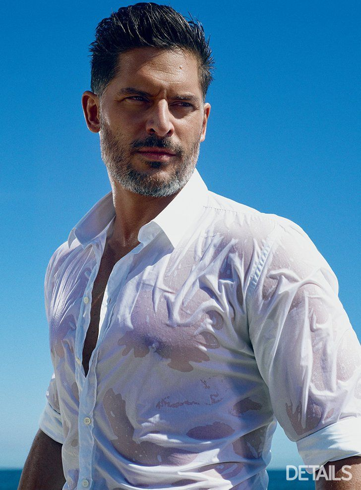 Pin for Later: Joe Manganiello Brings the Heat With His Ridiculous Biceps and a Wet Shirt