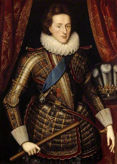 Prince Henry Frederick (1594–1612), Prince of Wales   by Isaac Oliver (after)  National Trust   Oil on panel