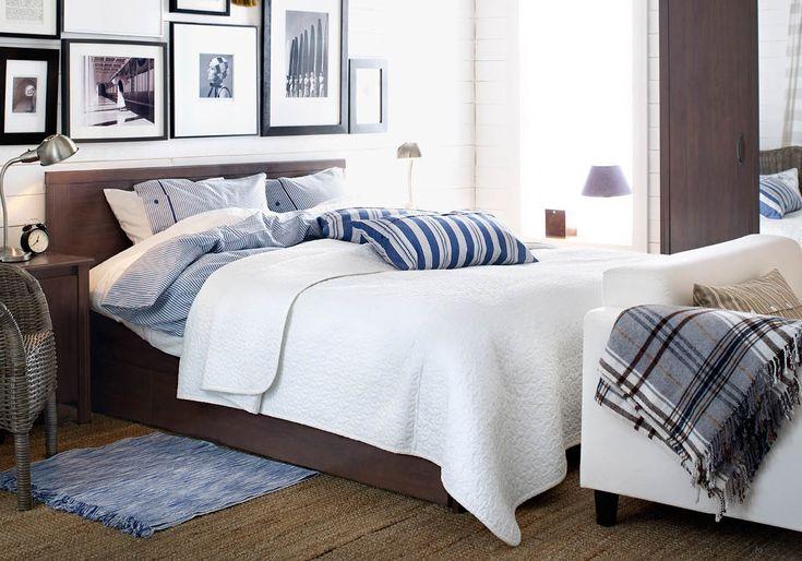 die besten 25 brusali bett ideen auf pinterest ikea bett berwurf leirvik bett und ikea. Black Bedroom Furniture Sets. Home Design Ideas