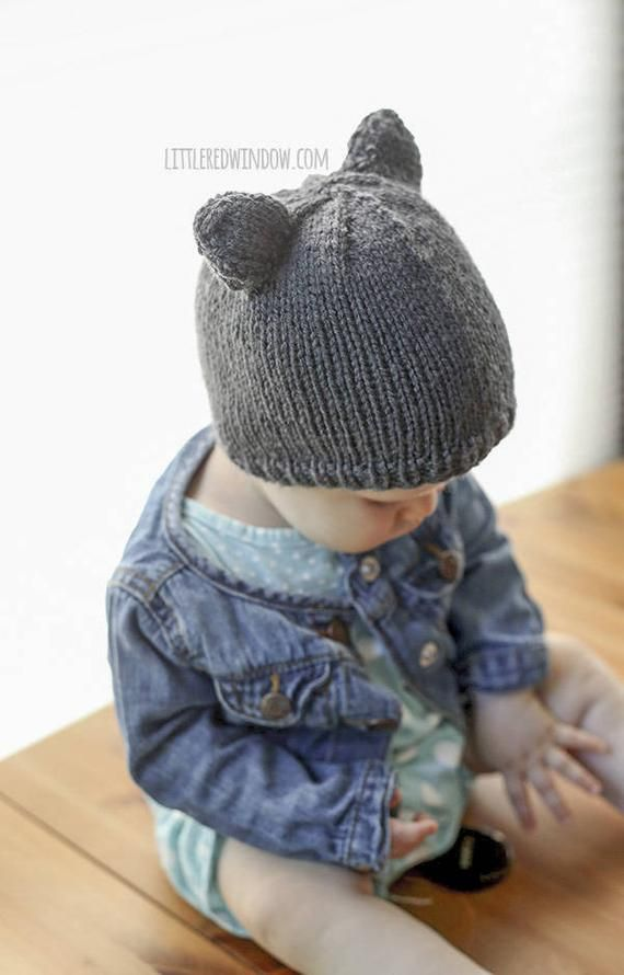 0dcf8955b9d Baby Bear Hat KNITTING PATTERN with ears   Bear Hat Pattern  Baby ...