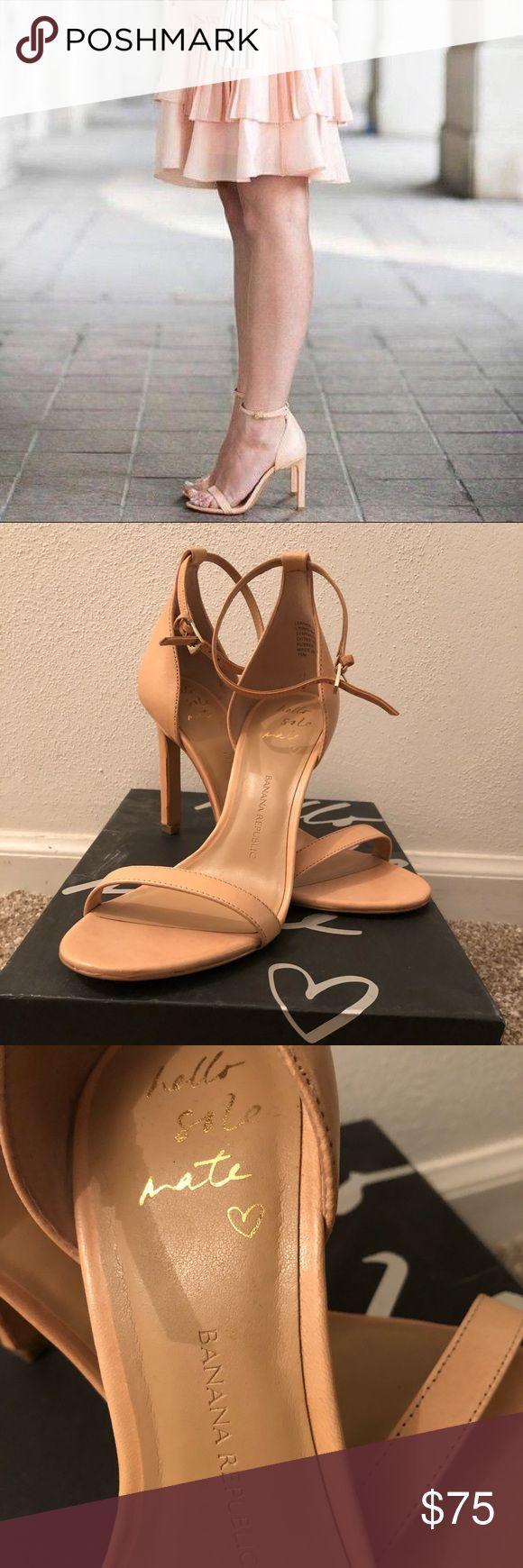 Banana Republic Shoes | Banana Republic Holland Heeled Sandal | Color: Cream | S…