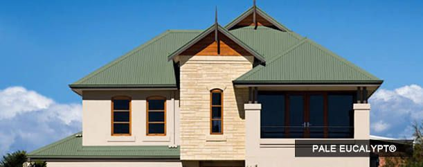 Image result for house with steel colorbond roof australia pale eucalypt