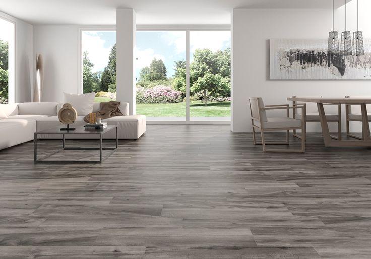 Pavimento imitación madera antideslizante color gris Life Grey