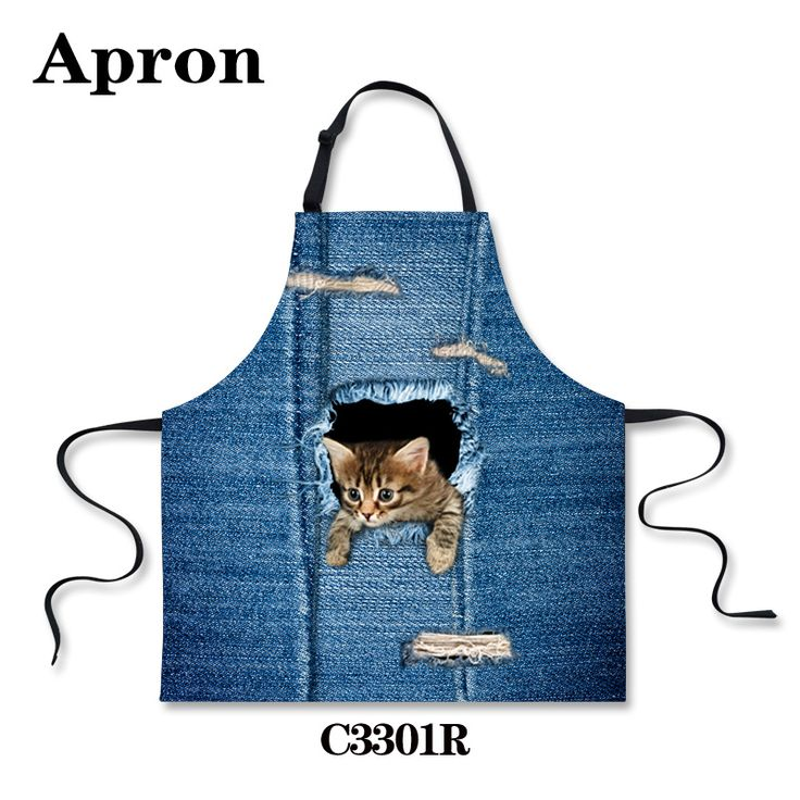 Cheap apron white, Buy Quality apron waiter directly from China apron wholesalers Suppliers:  Korean Style Animals Cute Cat Dog Blue Kitchen Aprons Personalized Chef Aprons Kawaii Cafe Cooking Cleaning Aprons for