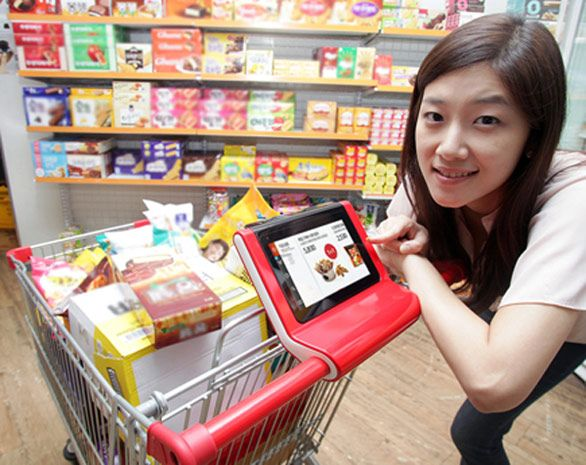 SK Telecom's Smart Cart syncs to phones, reminds you to buy milk