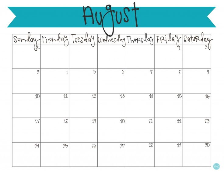 free printable august 2014 calendar!! so cute. | www.livecrafteat.com