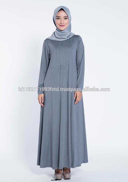 New Model Dress Elzatta Gamia Adela (Nursing Wear) Neutral Grey Hijab Fot The World