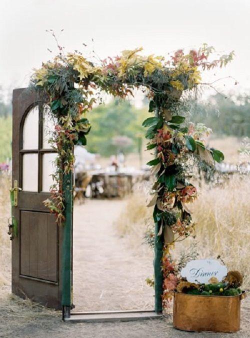 Rustic wedding doorway