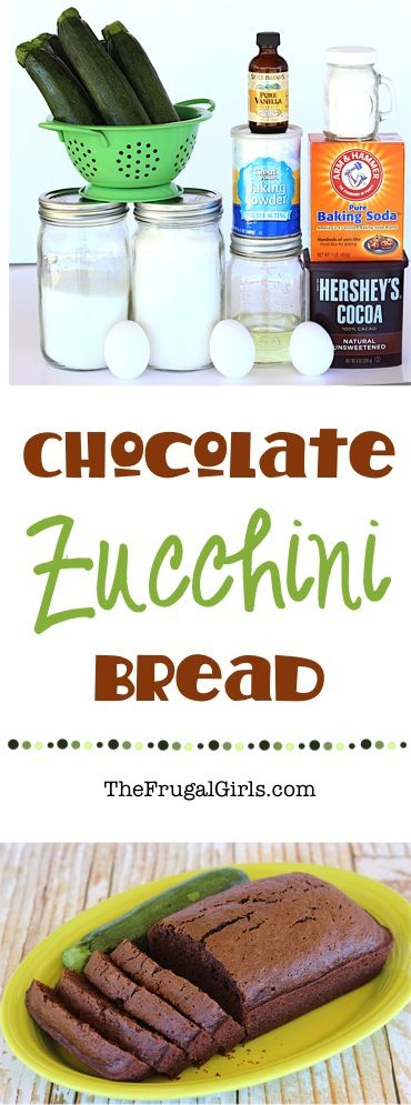 Chocolate Zucchini Bread Easy Recipe!  The perfect way to use some of the zucchini you've been growing in your garden, or just bake up an easy and delicious treat for the family!  Extra loaves freeze well, too!