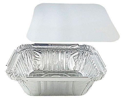 Pactogo 1 Lb Oblong Deep Aluminum Foil Take Out Pan With Https
