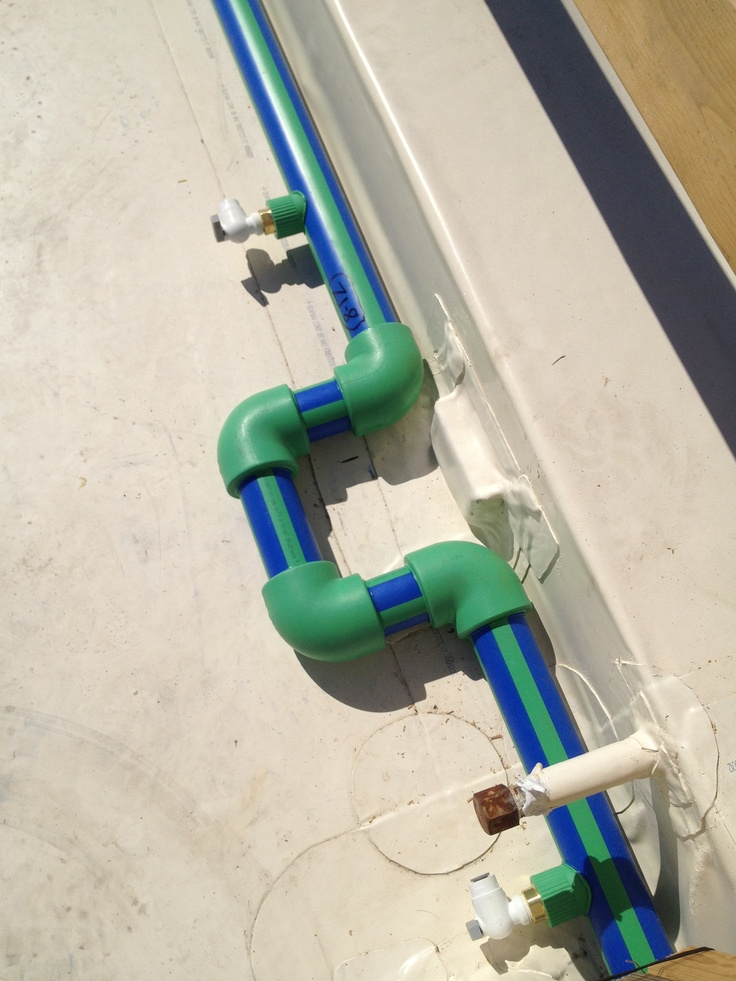 High quality AquaTherm PP-R piping for the supply/return manifolds #aquatherm #ThermaPAVER #manifold #PP-R