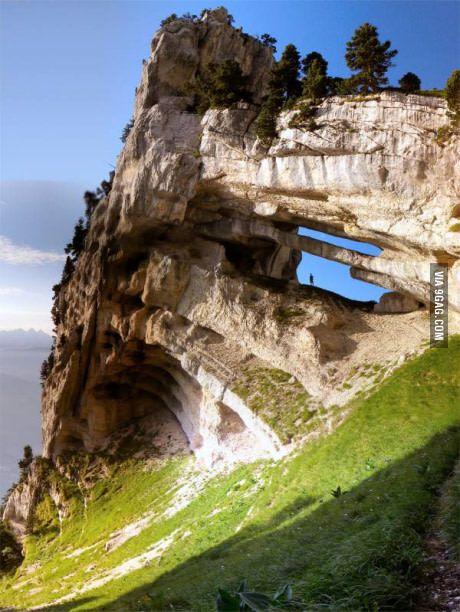 Rare rock formation in France, Massif de la Chartreuse