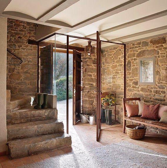 17 mejores ideas sobre escaleras r sticas en pinterest - Entradas de casas rusticas ...