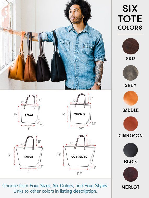 ab48a96debeeb Leather Tote Bag SALE, Tote with Zipper - Personalized Valentine's ...
