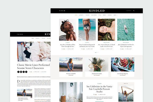 Kindled Blog Wordpress Theme Blog Themes Wordpress Wordpress Blog Wordpress Theme