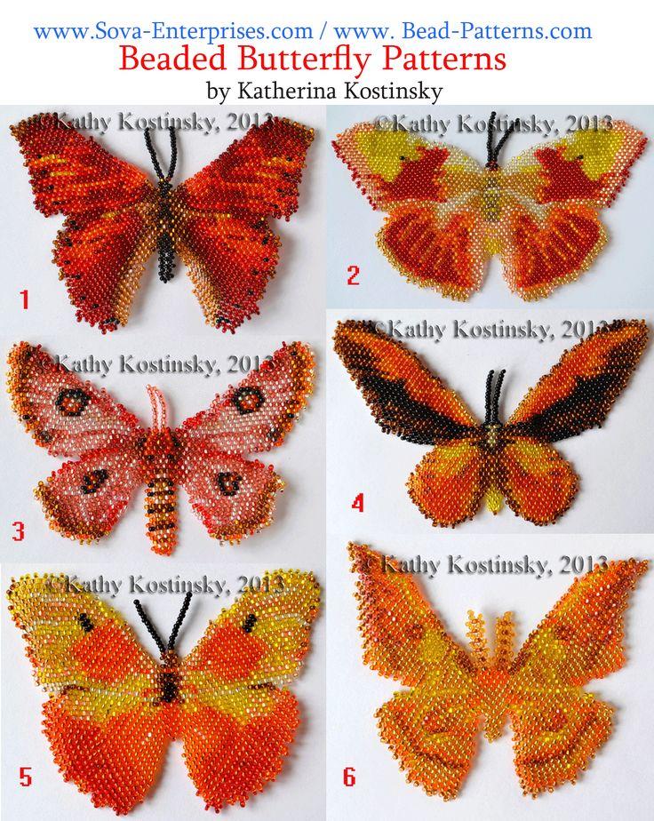Beaded Butterfly Patterns by Katherina Ksotinsky